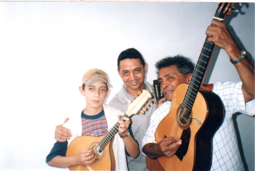 Com Chiquinho e  João Macambira ao violão