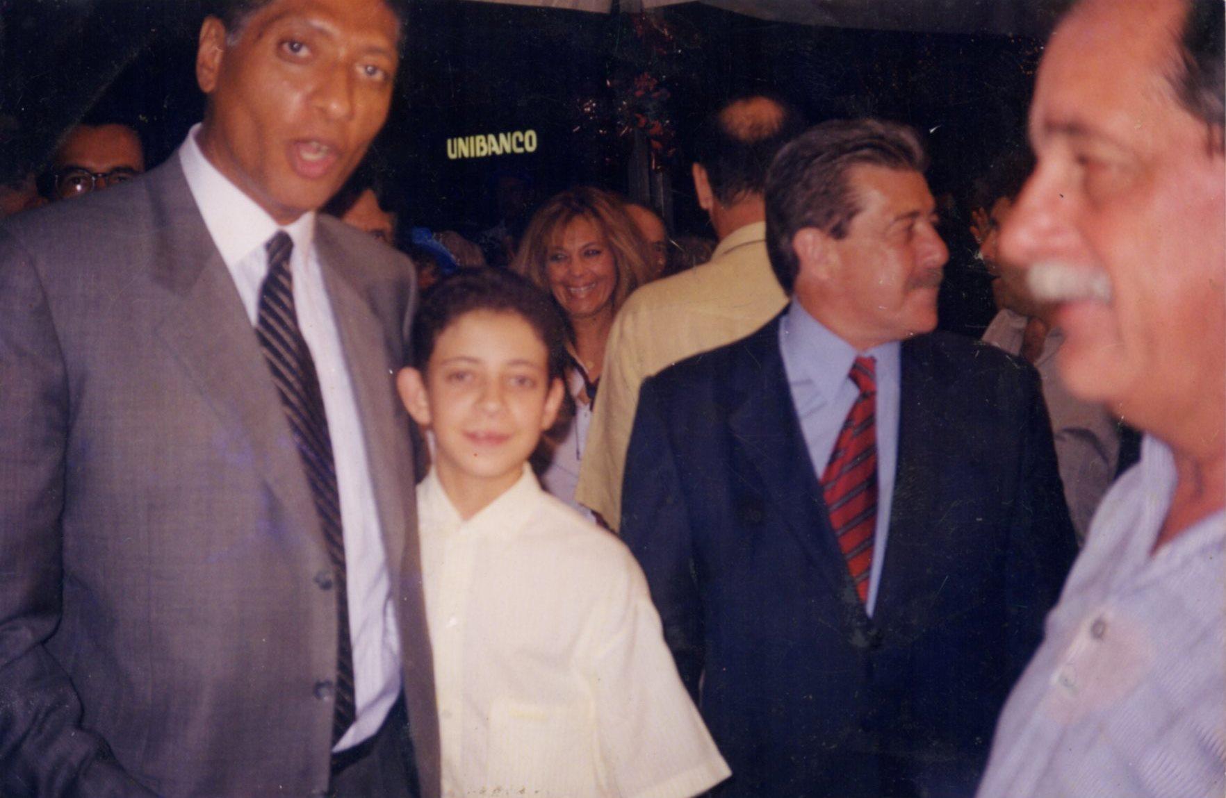 Com o prefeito Celso Pitta