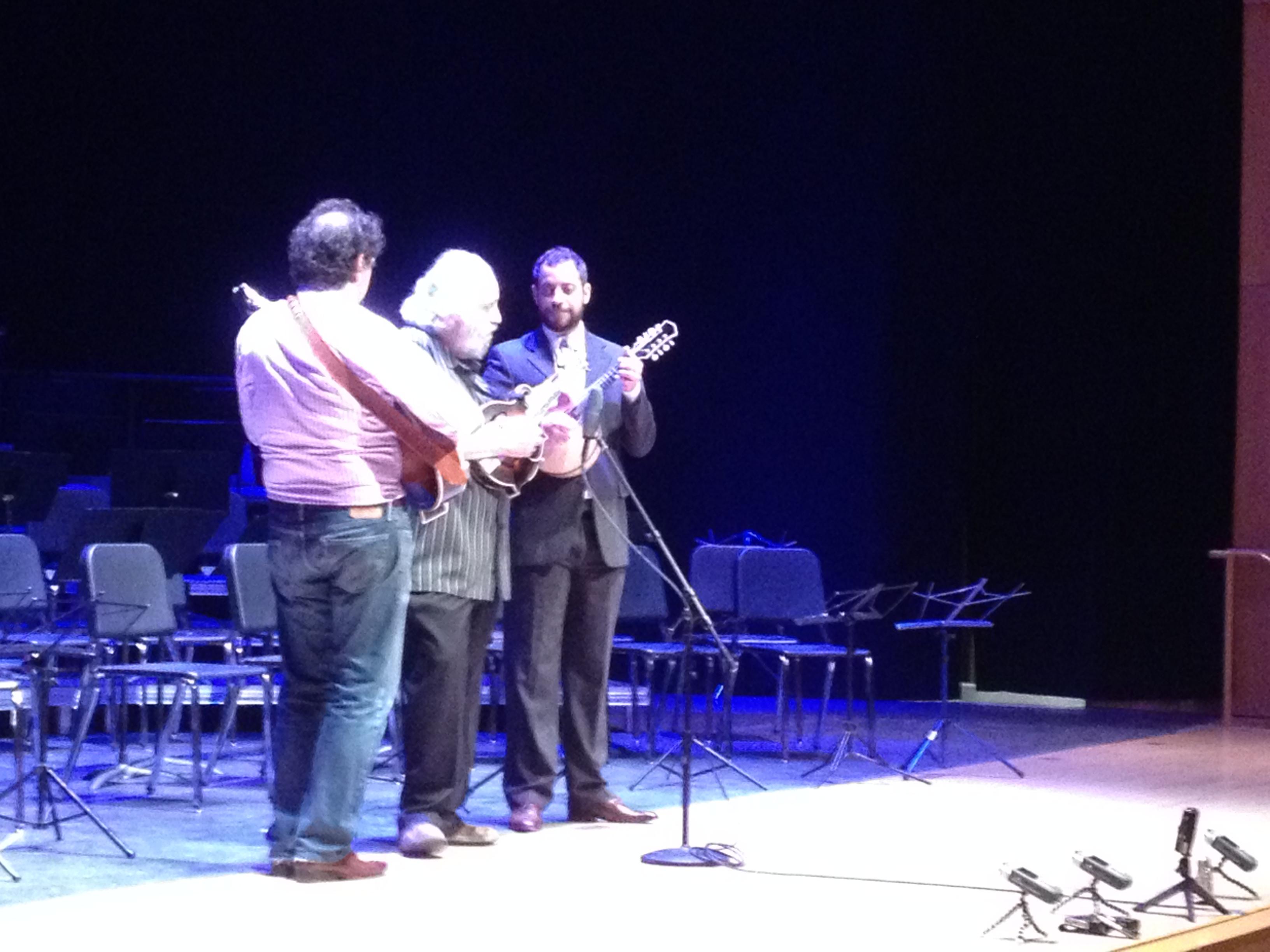 Com Mike Marshall e David Grisman