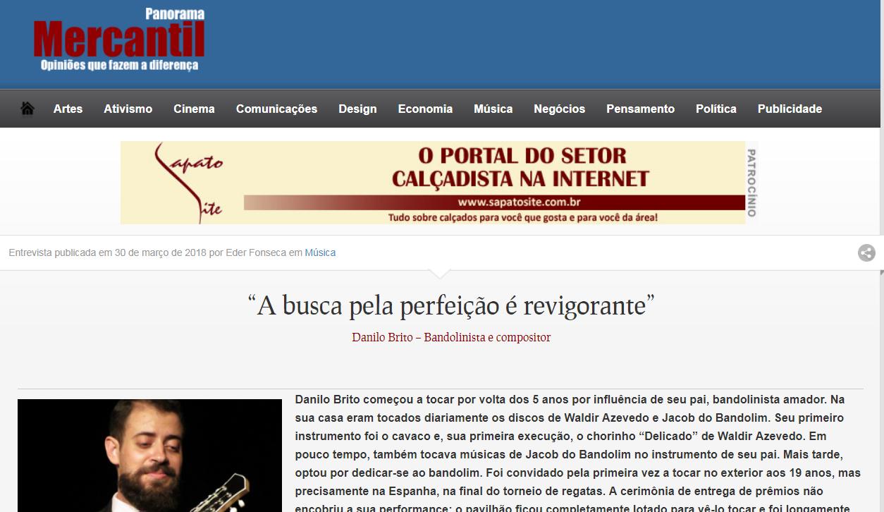 Nova entrevista de Danilo Brito